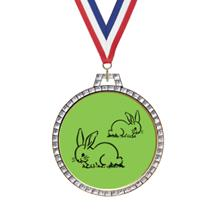 Diamond Rabbit Insert Medal