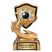 Electric Flame Bowling Insert Trophy