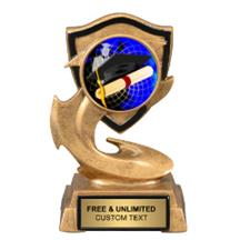 Electric Flame Graduation Insert Trophy