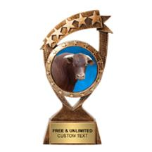 Ribbon Banner Cow Insert Trophy