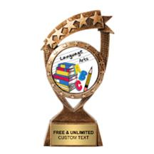 Ribbon Banner Language Arts Insert Trophy