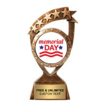 Ribbon Banner Memorial Day Insert Trophy