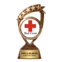 Ribbon Banner Red Cross Insert Trophy