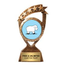 Ribbon Banner Sheep Insert Trophy