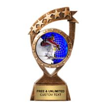 Ribbon Banner Skiing Insert Trophy