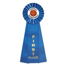 Fantasy Basketball Rosette Ribbon