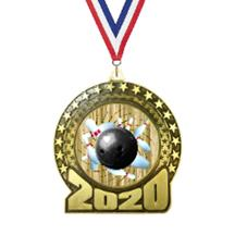 2020 Bowling Insert Medal