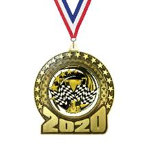 2020 Pinewood Derby Insert Medal